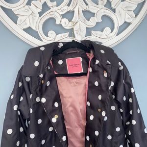 Kate spade polka dot rain coat